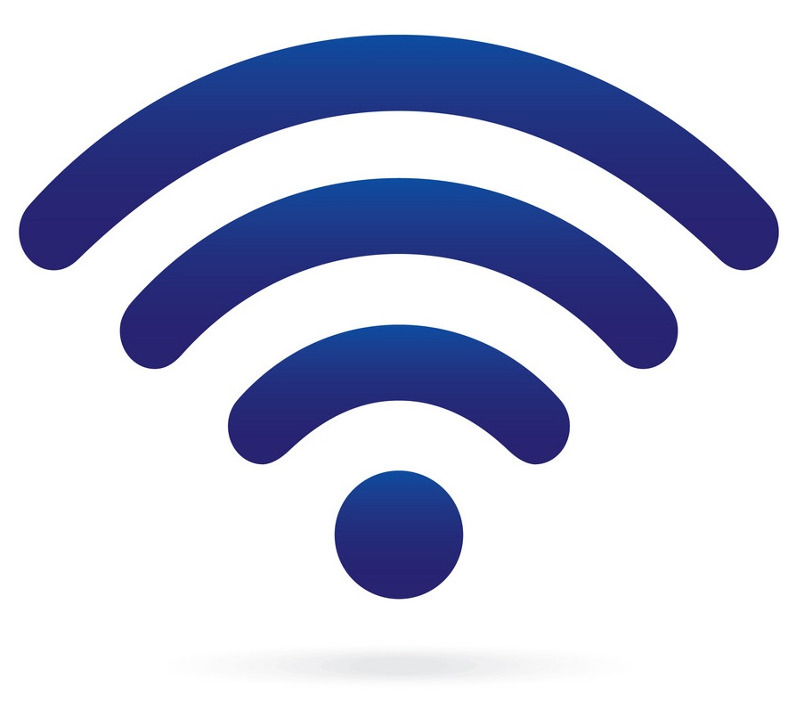 blue wifi icon wireless symbol on isolated vector 14074725